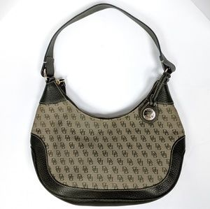 Dooney & Bourke Canvas & Leather Hobo Bag